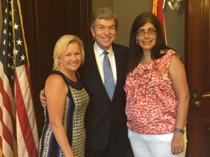 ATN Directors Sandy Davis and Lorraine Schneider met with Sen. Roy Blunt of Missouri, chair of the Congressional Coalition on Adoption