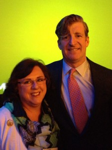 Toni Hoy, ATN's Advocacy Director, pictured with Patrick Kennedy at 2016 NAMI National Convention