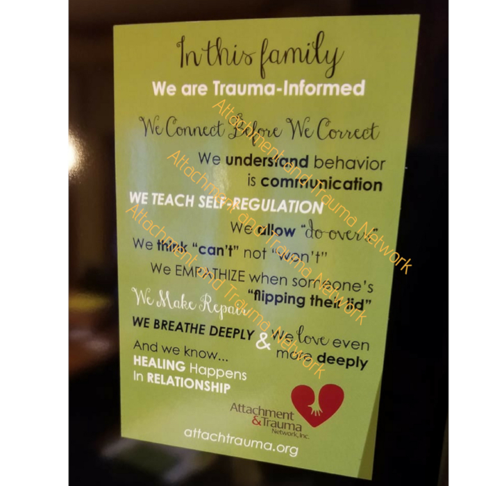 Magnet for families raising a traumatized child