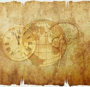 A brain, a globe, a clock - My Son's Brain in School