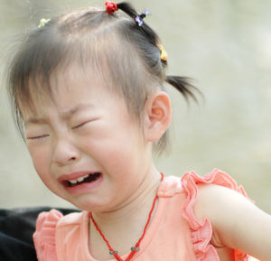 Little girl crying - Reactive Attachment Disorder (RAD)