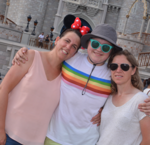 three women on vacation at Disney Magic Kingdom