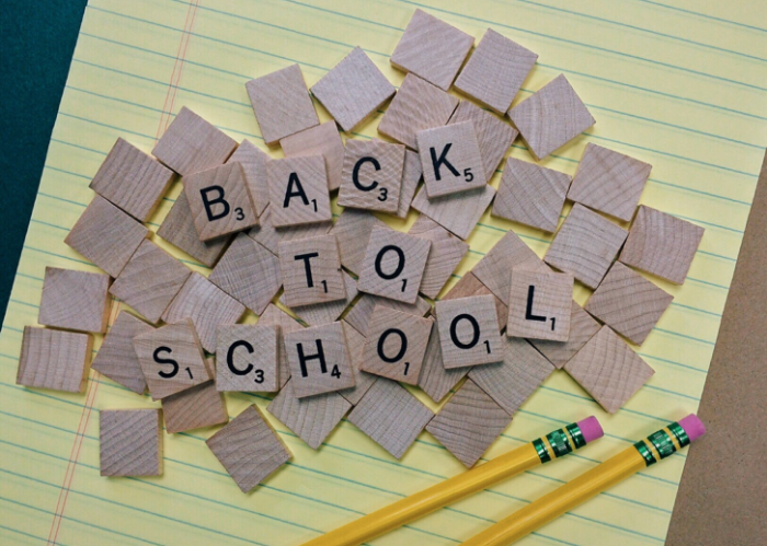 Back to School Scrabble tiles