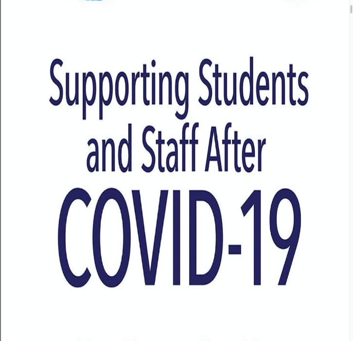 Supporting Students and Staff After COVID-19 (book title in purple font)