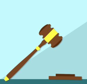 illustration of gavel coming down